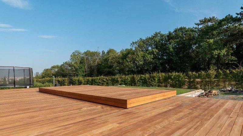 Slide wood - posuvné zakrytí bazénu